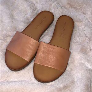 Genuine Leather Slides
